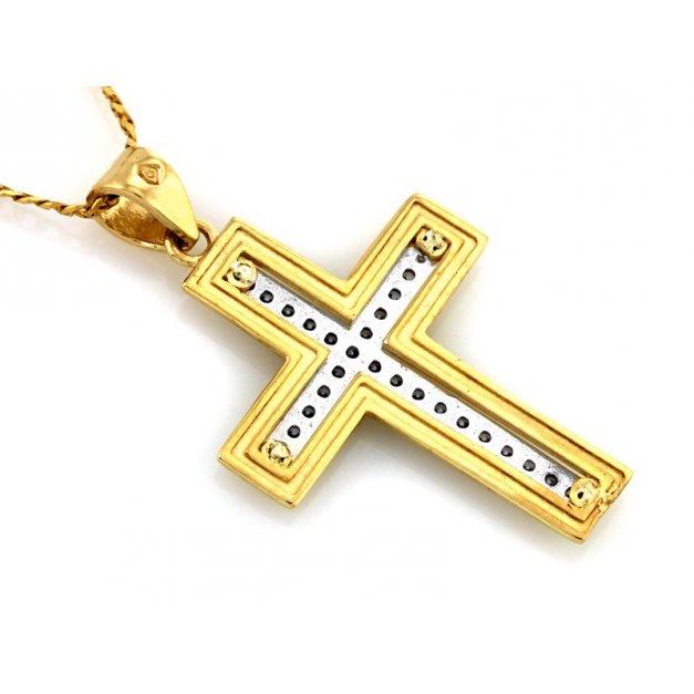 Złota zawieszka 333 krzyżyk krzyżyk PREZENT