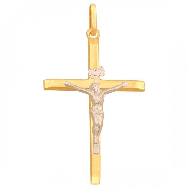 Złoty krzyżyk 585 PREZENT GRAWER PUDEŁKO