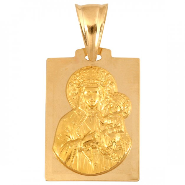 Złoty różaniec 585 Matka Boska PREZENT GRAWER