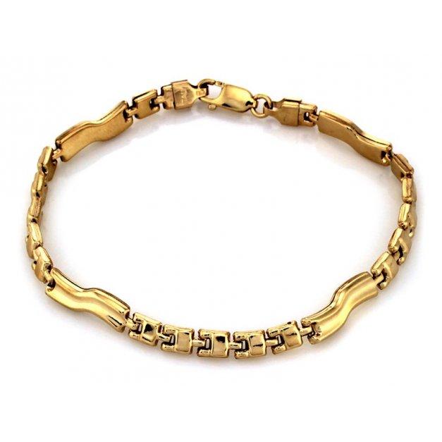 Złota bransoletka 585 elementowa elementowa