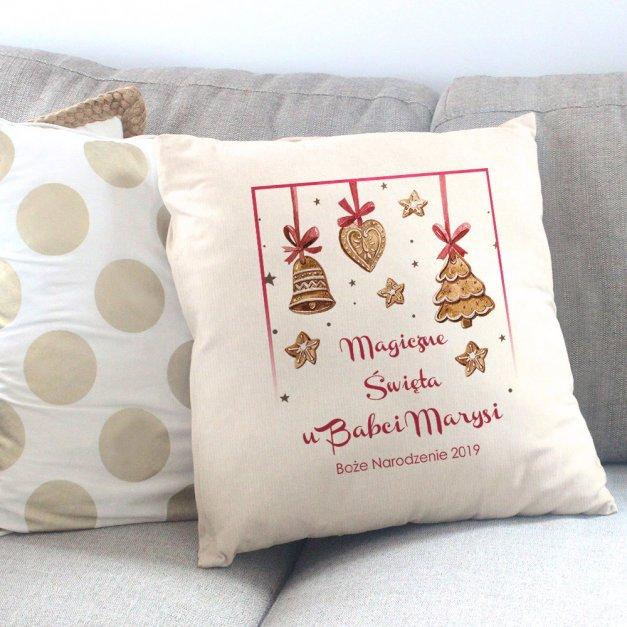 Poduszka personalizowana z nadrukiem Na Święta Magiczne Święta