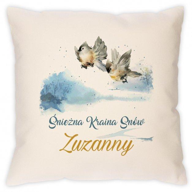 Poduszka personalizowana z nadrukiem Na Święta Śnieżna Kraina Snów