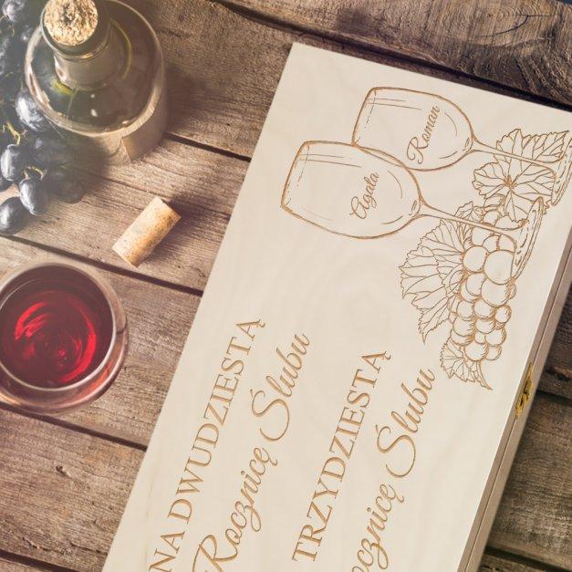 Ekskluzywna Skrzynka XL Na Wino Z Grawerem