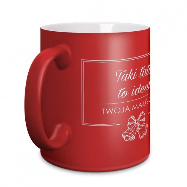 Kubki Ceramiczne Czerwone Dla Pary GRAWER Święta