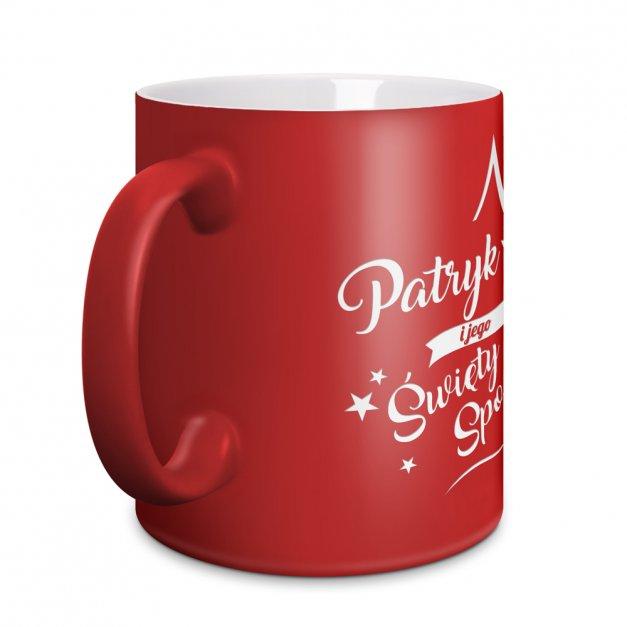 Kubek Ceramiczny Czerwony GRAWER Święty Spokój
