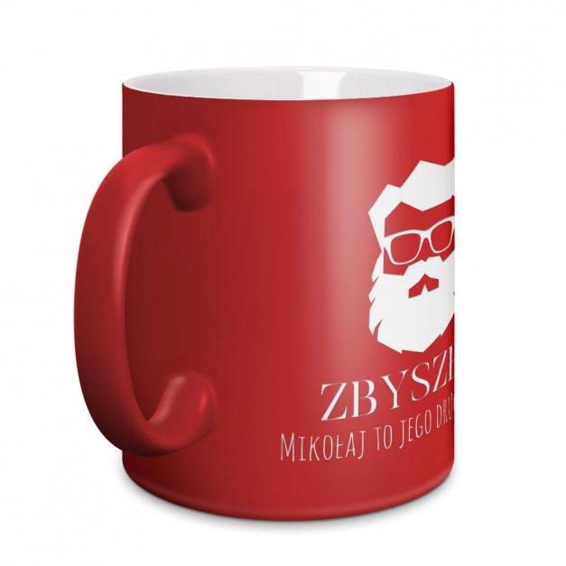 Kubek Ceramiczny Czerwony GRAWER Święta z Brodą