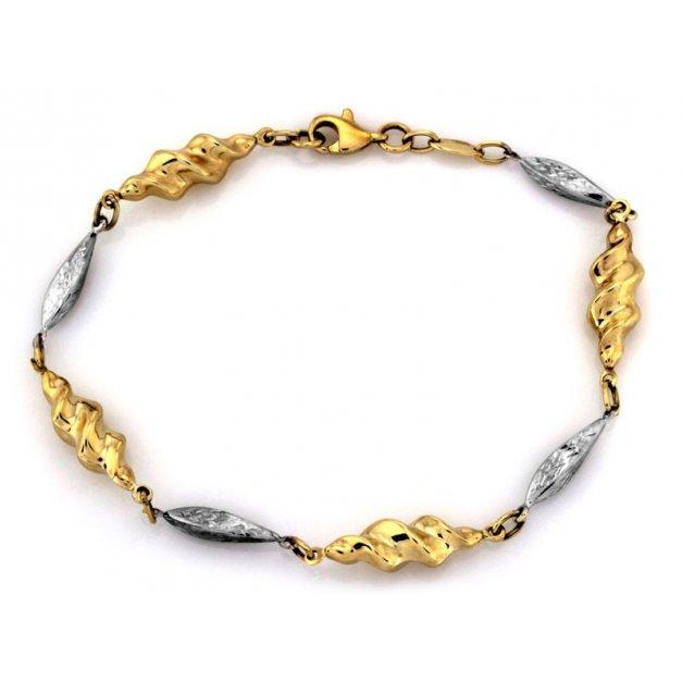 Złota bransoletka 333 elementowa elementowa