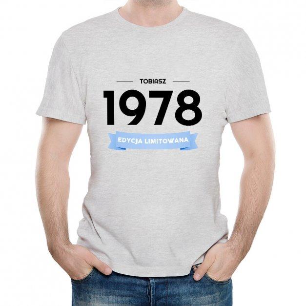 Koszulka Szara Męska z Twoim Nadrukiem EDYCJA LIMITOWANA