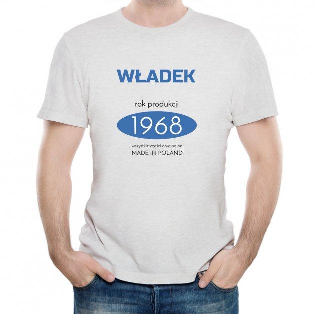 Koszulka Szara Męska z Twoim Nadrukiem MADE IN POLAND