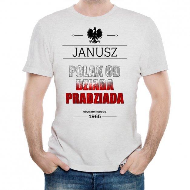Koszulka Szara Męska z Twoim Nadrukiem POLAK