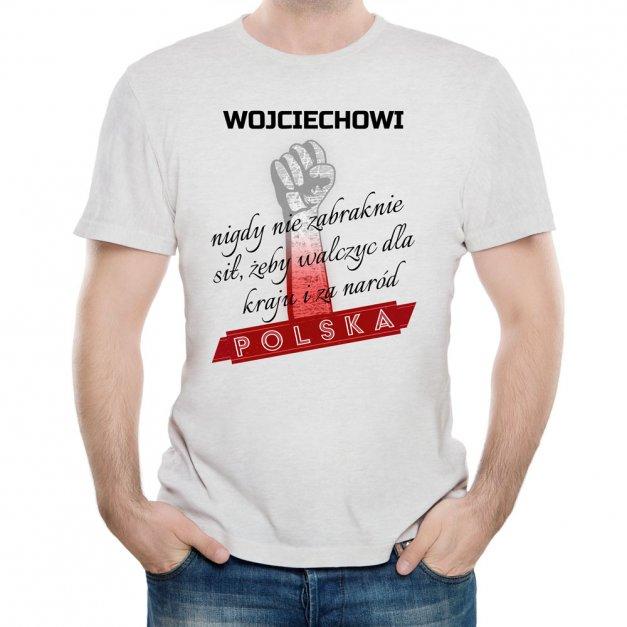 Koszulka Szara Męska z Twoim Nadrukiem NARÓD