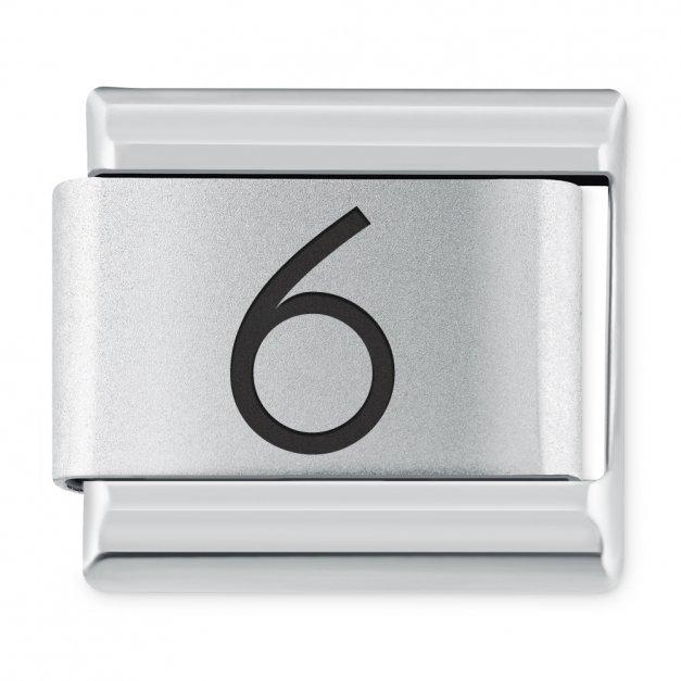 "ITALIAN CHARMS Cyfra ""6"""