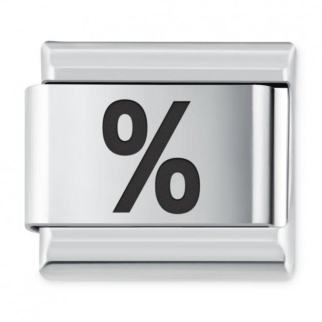 """ITALIAN CHARMS Znak """"procent"""""""