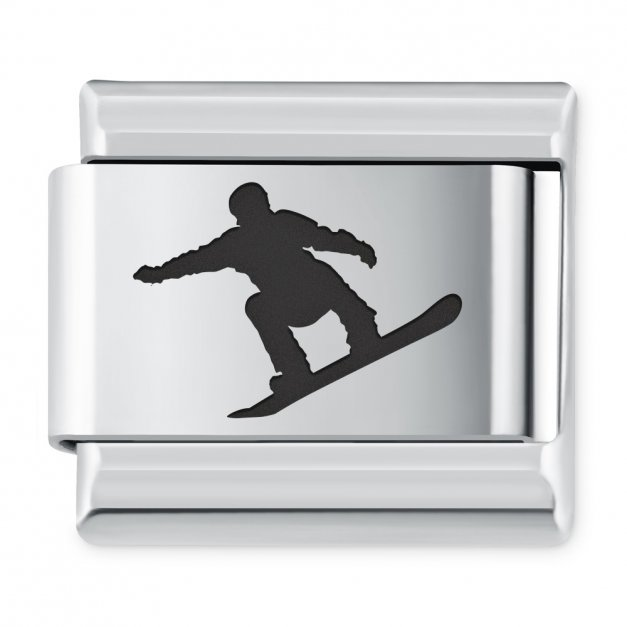 ITALIAN CHARMS Symbole Sportowe Snowboard