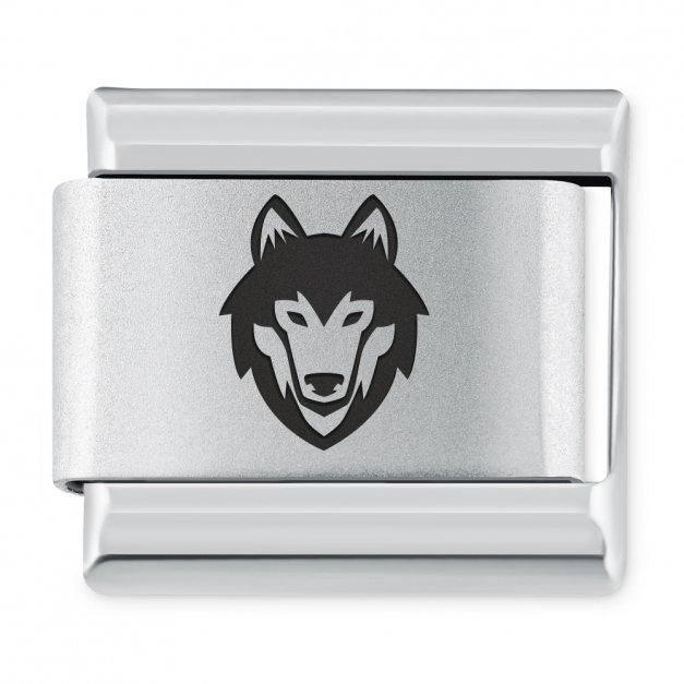 ITALIAN CHARMS Symbole Zwierzęta Wilk