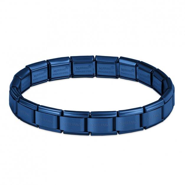 Bransoletka Bazowa ITALIAN CHARMS Blue Plating 21cm
