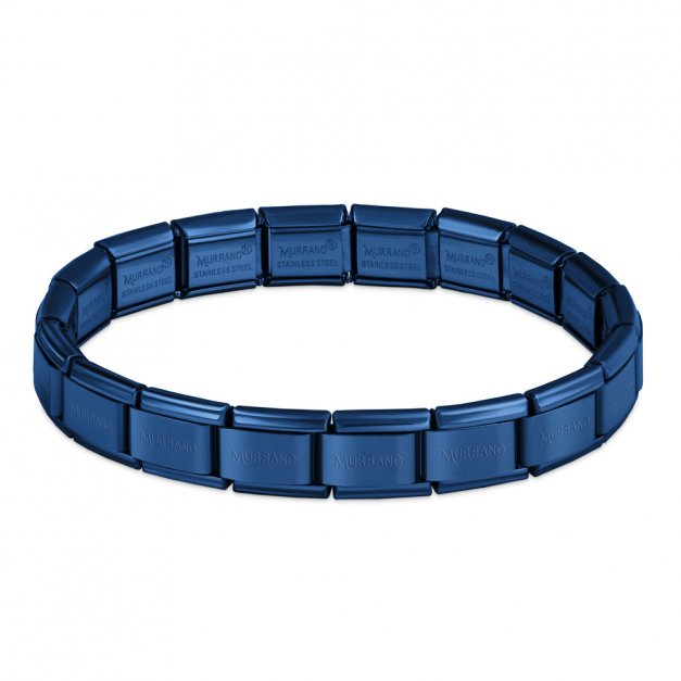 Bransoletka Bazowa ITALIAN CHARMS Blue Plating 17cm