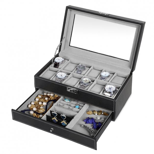 Szkatułka na Zegarki i Biżuterię GRAWER Styl dla Niego