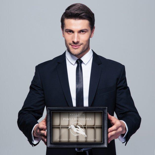 Szkatułka Kuferek na Zegarki GRAWER Biały Kruk