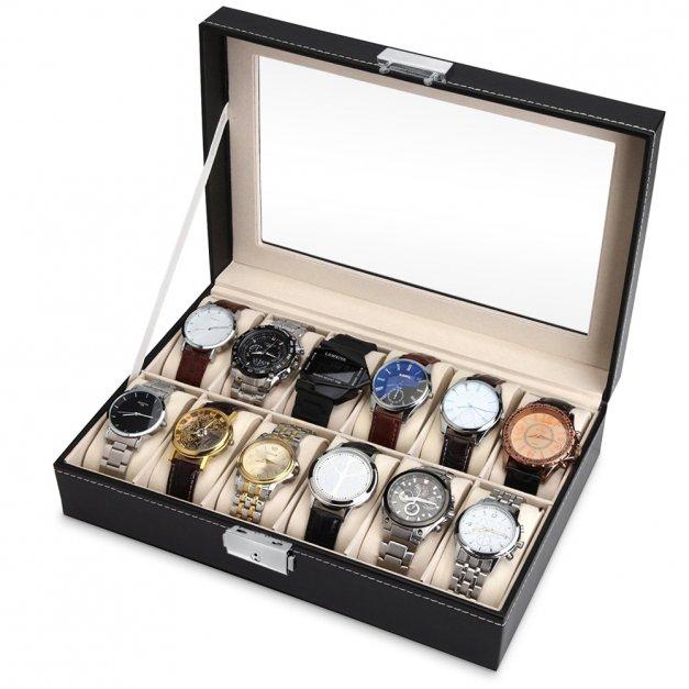 Szkatułka Kuferek na Zegarki GRAWER Dla Gentlemana