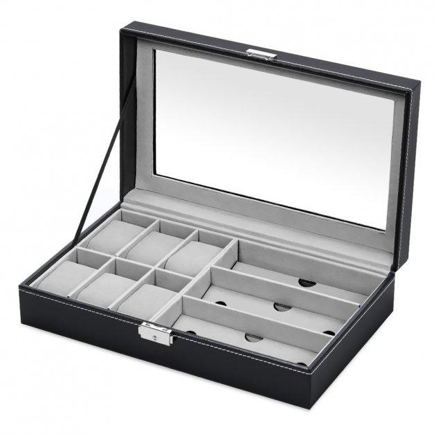 Szkatułka na Zegarki i Okulary GRAWER Dla Gentlemana
