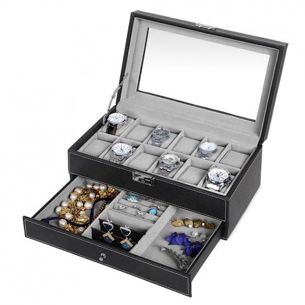 Szkatułka na Zegarki i Biżuterię GRAWER Monogram