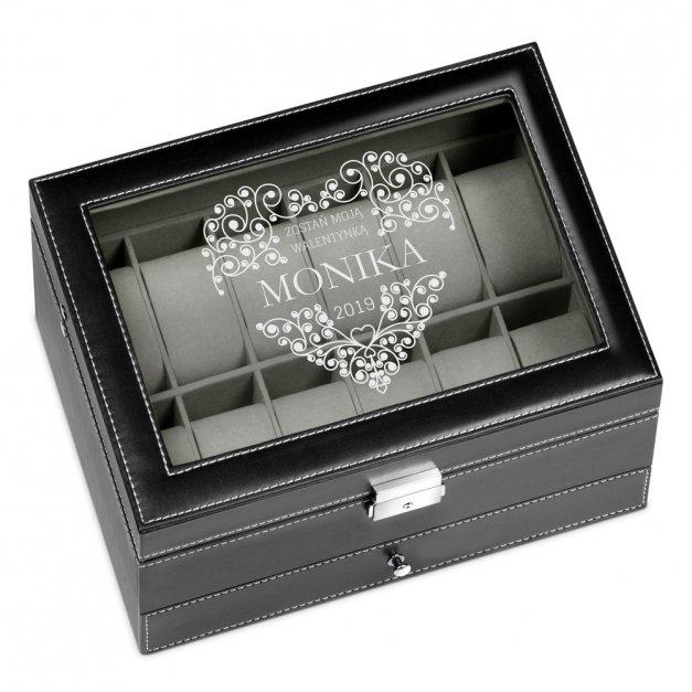 Szkatułka na Zegarki i Biżuterię GRAWER Serce
