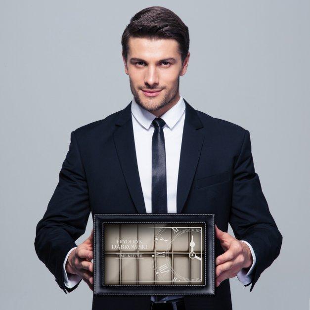 Szkatułka Kuferek na Zegarki GRAWER Time Keeper