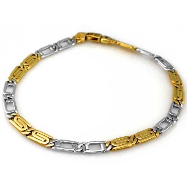 Złota bransoletka 585 męska PREZENT GRAWER