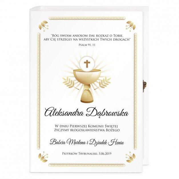 Biblia Dla Dzieci Z Drewnianym Etui Nadruk Kielich