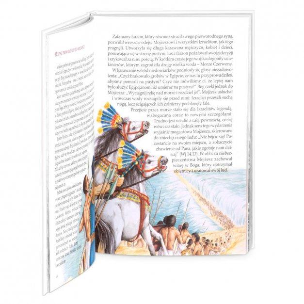 Biblia Dla Dzieci Z Drewnianym Etui Nadruk Kwiecisty Krzyż