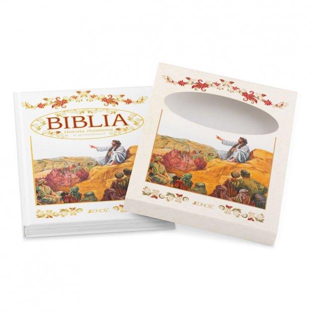 Biblia Dla Dzieci Z Drewnianym Etui Nadruk Chrzest Święty