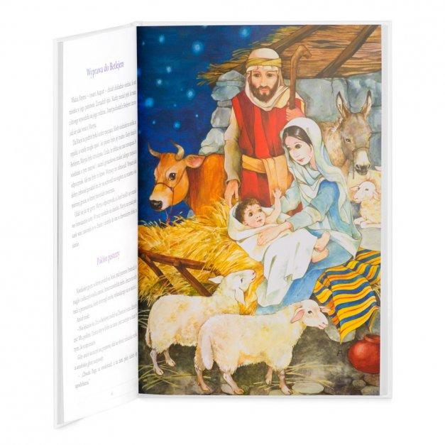 Biblia Dla Dzieci Z Twoim Nadrukiem I Drewnianym Etui Kwiecisty Krzyż