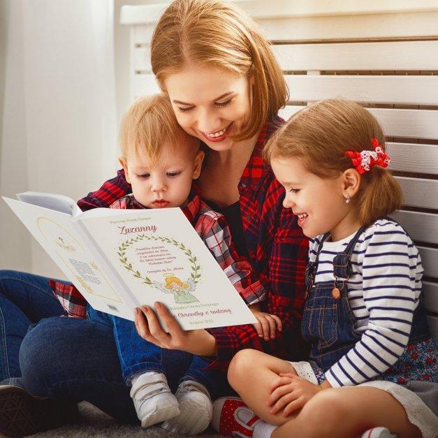 Biblia Dla Dzieci A4 Nadruk Aniołek Na Chrzest
