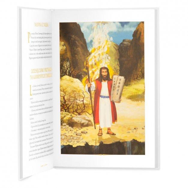 Biblia Dla Dzieci A4 Nadruk Kwiecisty Krzyż Komunia Święta