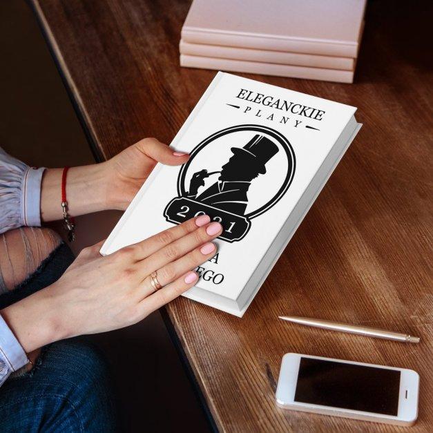 Planner kalendarz książkowy z nadrukiem dla gentlemana dziadka taty