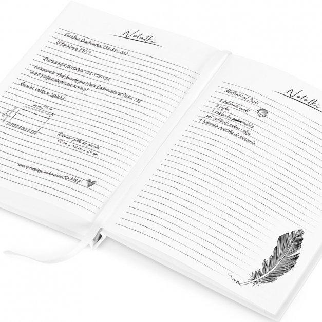 Planer Kalendarz Książkowy z Nadrukiem Liście