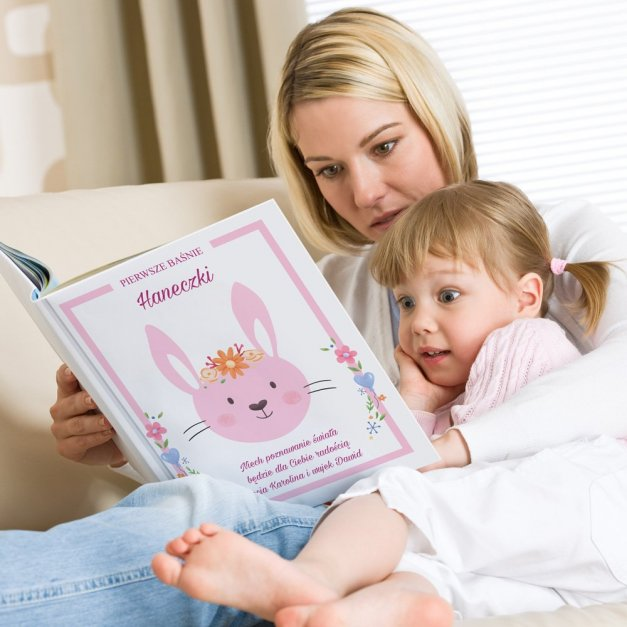 Księga Baśni Dla Dzieci z Nadrukiem Króliczek