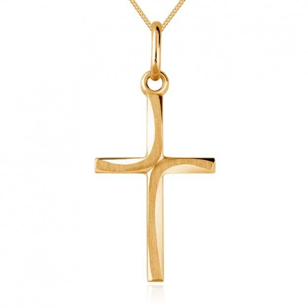 Złoty Łańcuszek z Krzyżykiem 585 GRAWER ZZ105