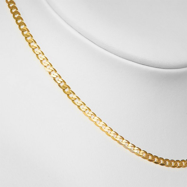 Złoty Łańcuszek 585 Pancerka 2mm Grawer