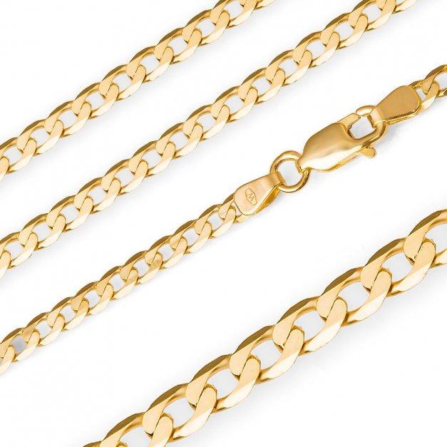Złoty Łańcuszek 585 Pancerka 2,5mm Grawer