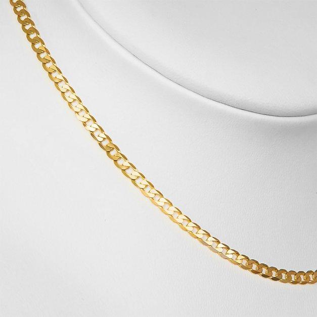 Złoty Łańcuszek 585 Pancerka 3mm Grawer