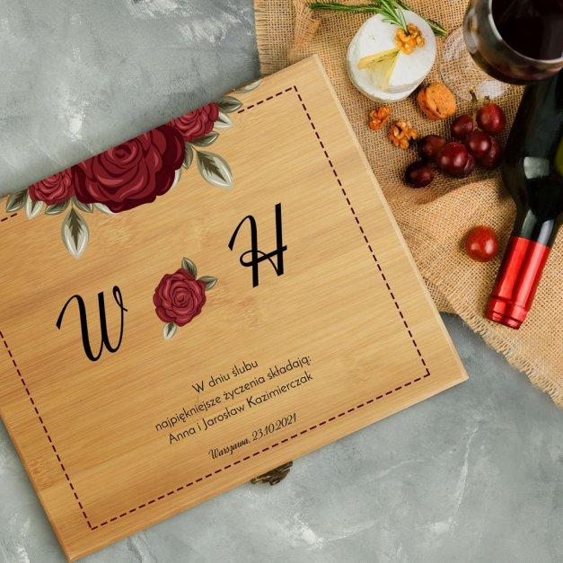 Personalizowany Zestaw Akcesoriów Do Wina Deluxe Róże
