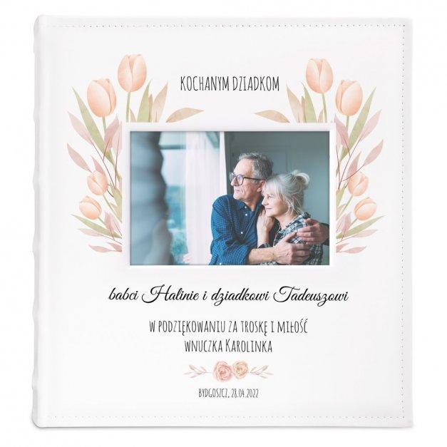 Album z Okienkiem Prezent Dla Dziadków Nadruk Kwiaty