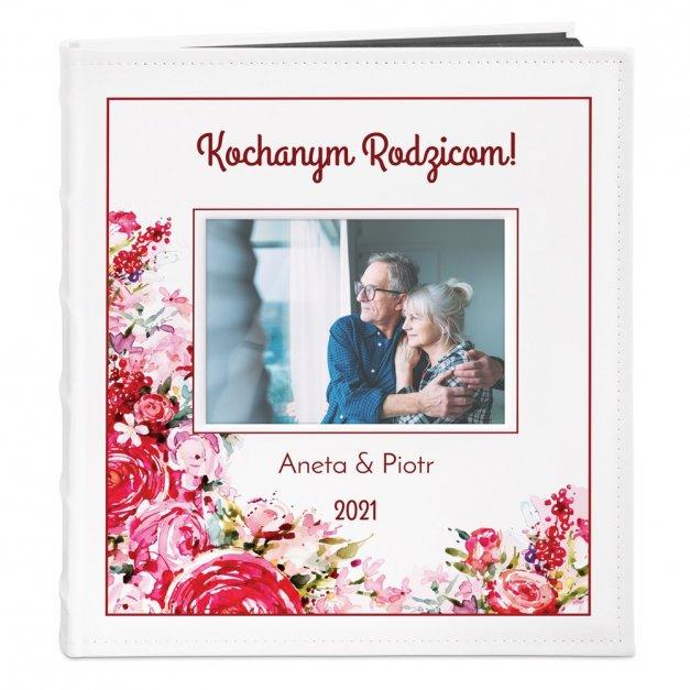 Album z Okienkiem Prezent Dla Rodziców Nadruk Kwiaty