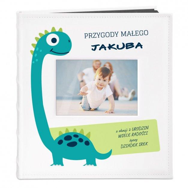 Album z Okienkiem Prezent Dla Dziecka Nadruk Dinozaur