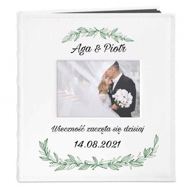 Album z Okienkiem Prezent Na Ślub Nadruk Boho