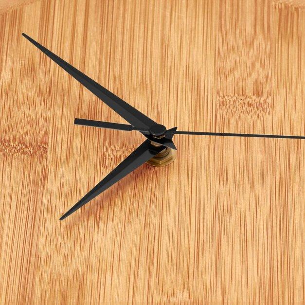 Zegar Ścienny Bambusowy Z Nadrukiem Słodkich Snów
