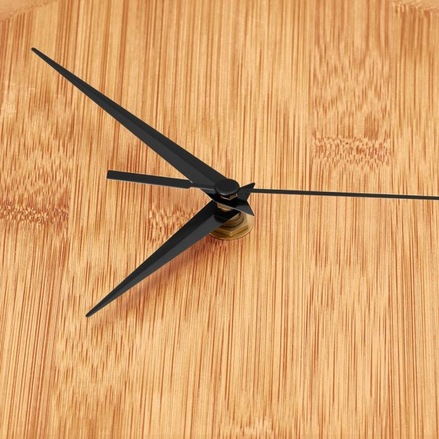 Zegar Ścienny Bambusowy Z Nadrukiem Czas na Jogę