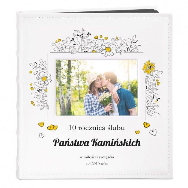 Album z Okienkiem Prezent Na Rocznicę Nadruk Kwiaty